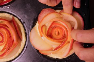 Apfelrosen ungebacken