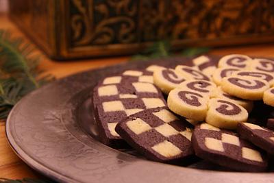 Schachbrett Kekse